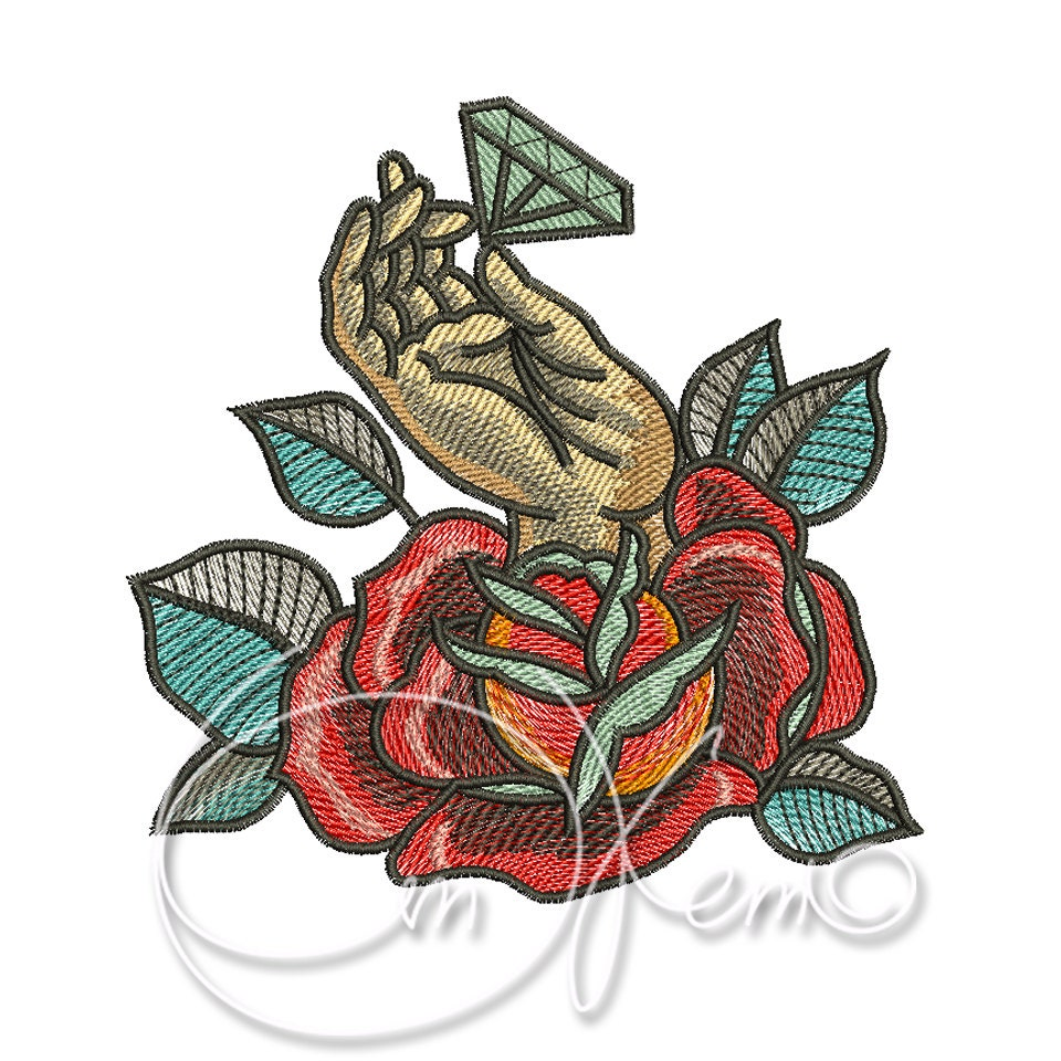 machine embroidery design old school tattoo embroidery hand. Black Bedroom Furniture Sets. Home Design Ideas