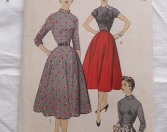 50s Pattern Advance 6836 Size 18 Bust 36 1950s Vintage Sewing Pattern