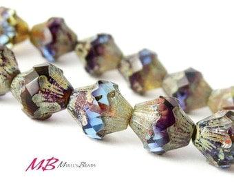 Multi Color Beads 11x10mm Czech Glass Beads