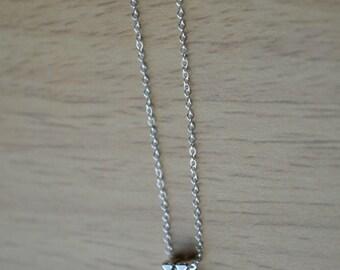 Silver x Necklace, X Necklace, Letter Necklace, Initial Necklace, Letter Necklace, Personalized Letter Necklace, Silver Letter Necklace