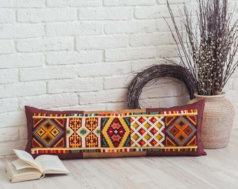 Hand-made embroidered Pillow Cover Etno