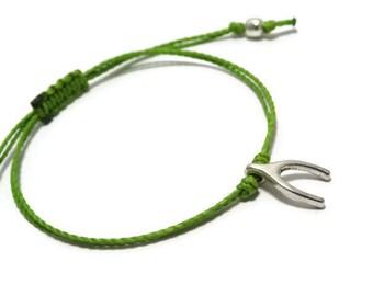 Wishbone Bracelet, Wish Bone Bracelet, Wish Bracelet, String Bracelet, Thread Bracelet, Friendship Bracelet, Slim Bracelet, Lucky Bracelet