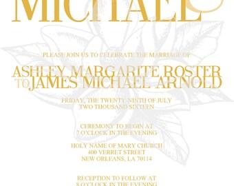 Gold Modern Wedding Invitation