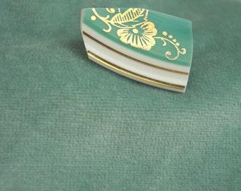 Green Dream porcelain brooch