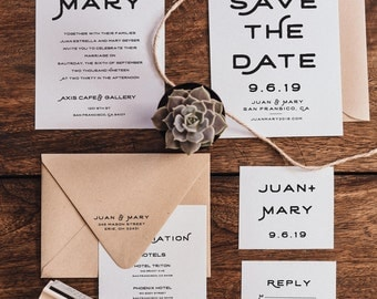 Wedding Invitation Suite Stamp Set (W002)