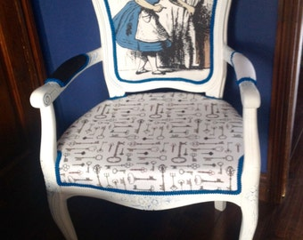 Alice in Wonderland inspired Louis chair