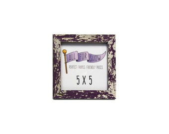 5x5 frame reclaimed wood frame 5x5 picture frame photo frame picture frame 5x5 photo frame purple reclaimed wood frame 5x5 wood frame