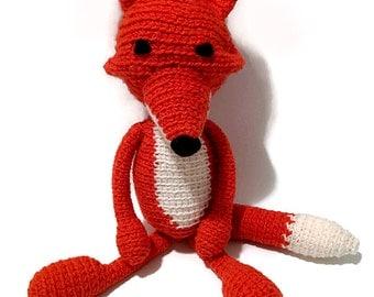 Fox Crochet, Crochet Fox, Amigurumi, Plush Fox, Plush Animal, Crochet Plush, Fox, Orange Fox Amigurumi, Accroche Pouce, Rustic Plush Animals