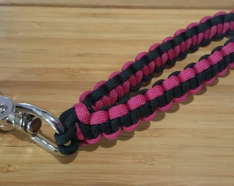 Paracord Key BEST Wristlet Fob Keychain Lanyard with Large Durable Clasp Custom made with your Color and Size! Knotability Diabetes Support