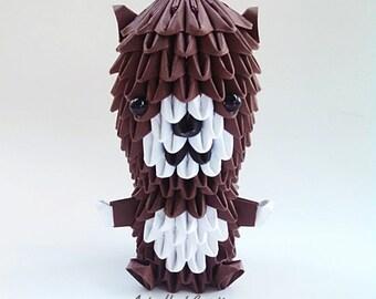 3d origami p re no l arbre de no l origami par artsyhandscreations - Arbre de noel origami ...