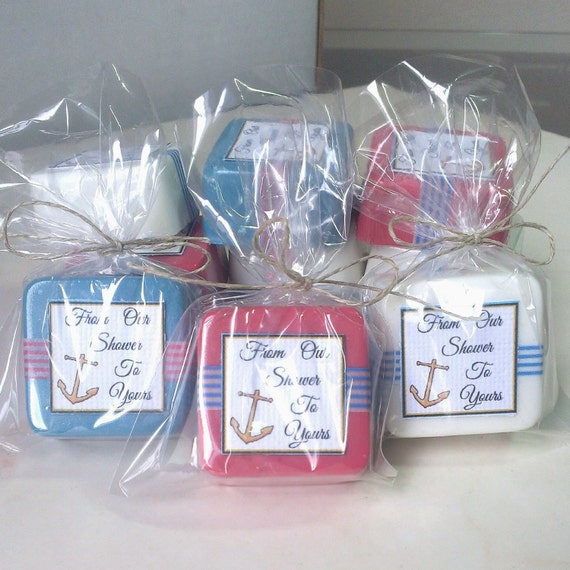 24 nautical baby shower decoration boy baby shower favors anchor