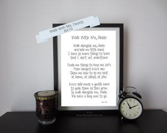 Father's Day Gift, Walk With Me Daddy, New Dad Print, Father's Day Poem, Nursery Wall Art, Father's Day Print, First Father's Day, Gift Idea