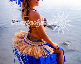 Tahitian costume banded half hip belt