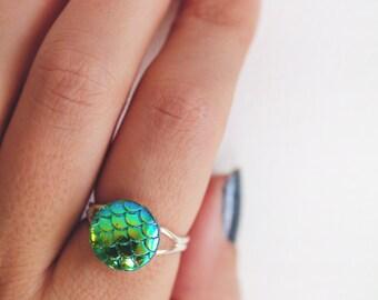Green Mermaid Ring