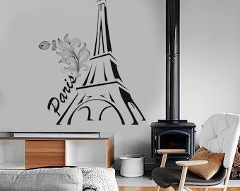 Wall Vinyl Decor Art Paris France Romantic Vacation Cool Amazing Decor 1279dz