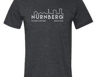 "Libbi Mills ""Nurnberg"" Fundraiser (Dark Heather Grey or Heather Blue)"