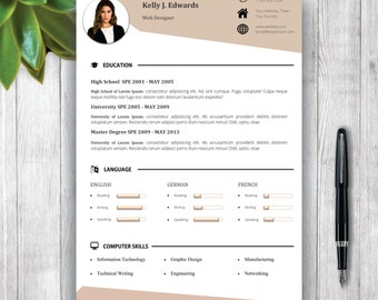 resume template 5 pages cv template cover letter references and portfolio for ms - Resume Format Design