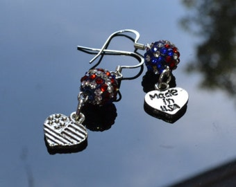 Red, White, and Blue 4th of July Earrings