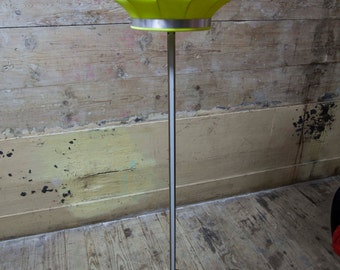 Vintage fabric lamp restored nine foot trident