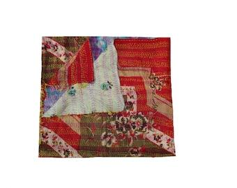 vintage kantha scarve,reversible silk hand stiched kantha stole,ethnic kantha girl's wrap