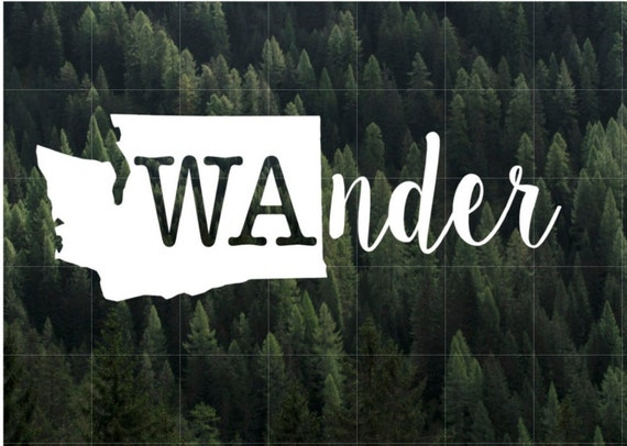 Wander Washington State Vinyl Decal Macbook Decal Yeti