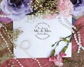 Custom Address Stamp, Stamp for Newlyweds, The Future Mr. & Mrs. Stamp, Wedding Gift --10205-CB17-000