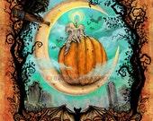Autumn Decor - Pumpkin Art - Crow Art - Rustic Fall Decor - Pumpkin Decor - Thanksgiving Decor - Rustic Farmhouse - Farmhouse - Pumpkins