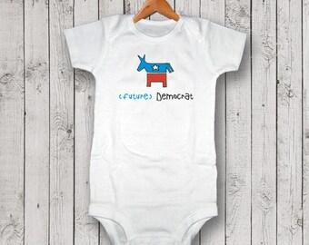 Future Democrat Bodysuit, One Piece, Romper, T-shirt, Baby Shower Gift, New Baby Gift, Election Onesie