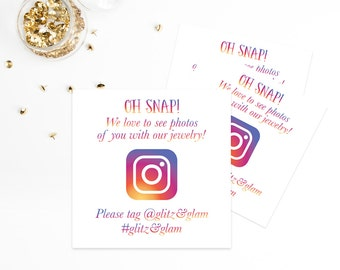 Social Media Cards Instagram Cards Printed Social Media Cards Marketing Business Cards Calling Cards Social Shoutout Branding Direct Sales