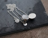 White Moonstone solid silver round ball necklace