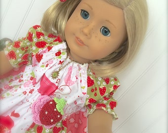 "18"" Doll Dress PDF Pattern AllisonCarol  Juvie Moon Designs"
