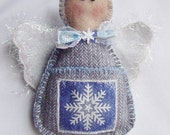 Angel Gift Card Ornament with Pocket by Happy Valley Primitives WWOFG