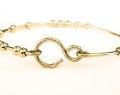 Gold Bangle Bracelet, 18 Chai Good Luck Bracelet, Stacking Bangle Bracelet, 18 Beads Bracelet, Handmade Bracelets, Venexia Jewelry