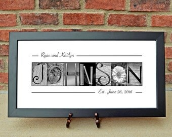 FRAMED Architectural Name Print - Custom Wedding Gift - Alphabet Photography - Personalized Name Print