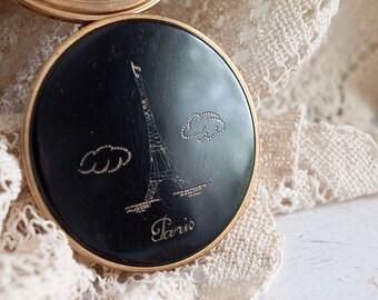 Antique Paris Compact /  Eiffel Tower