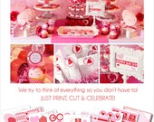 Valentines Party Printables | Valentines Decorations | Valentines Card | Valentines Kids Party | Valentines Favors | Amanda's Parties To Go