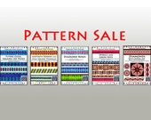 SALE / 5 PATTERNS / Sawtooth Borders, Flying Geese, Diamond Rows, Spirals and Greek Keys, Diamond Kaleidosopes