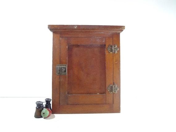 Beau Small Antique Brass Medicine Cabinet: Vintage Wood Wall Cabinet Antique Medicine Cabinet