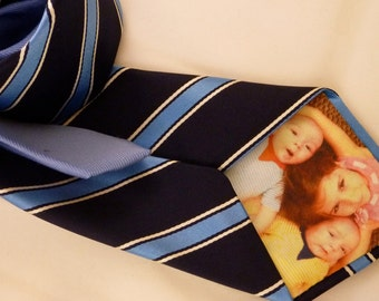 Custom Peek-a-Boo Tie with YOUR picture hidden inside