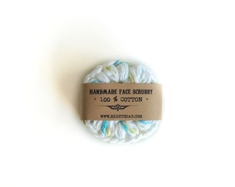 Face Scrubbies Crochet cotton scrubbies, Crochet Makeup Removers cotton scrubby Mini Washcloths Eco-friendly Set of 3