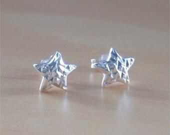 925 Silver Star Stud Earrings/Star Earrings/Sterling Silver Star Earrings/925 Star Jewelery/Star Jewellery/Silver Star Jewelry