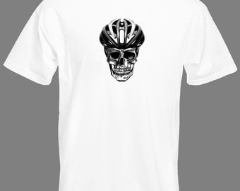 Cycling T shirt  -  Skull with helmet