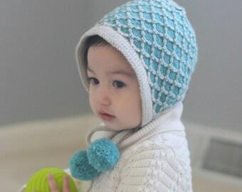 Vintage Inspired Bonnet for Baby Girl, Apple Pie Bonnet