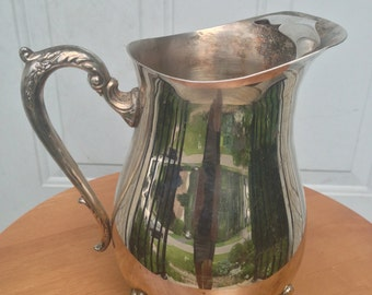Silver Plated Footed Cold Water Pitcher by Leonard Silver Mfg Co.