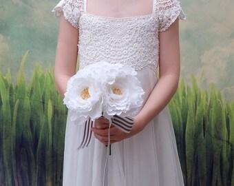 Rose Wedding Flowers Bouquet  - Trio Bloom Bouquet