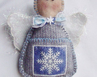 Gift Card Holder Angel Ornament with Pocket by Happy Valley Primitives