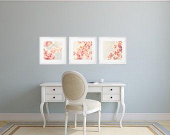 SALE, Blush pink wall art, blush pink prints, large art, large wall art, nature photography, cherry blossom, art, wall art, wall decor,