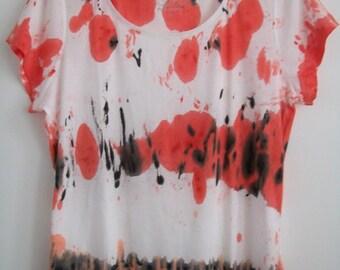 Tie Dye Womens Tshirt, Grunge Tshirt Plus Size