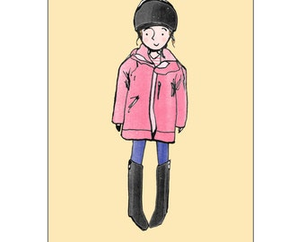 Personalised horse riding print