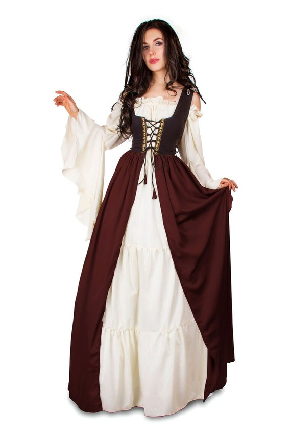 Renaissance medieval irish costume two toned by for Robe ou ensemble habillé